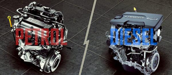 бензиновый и дизельный двигатель