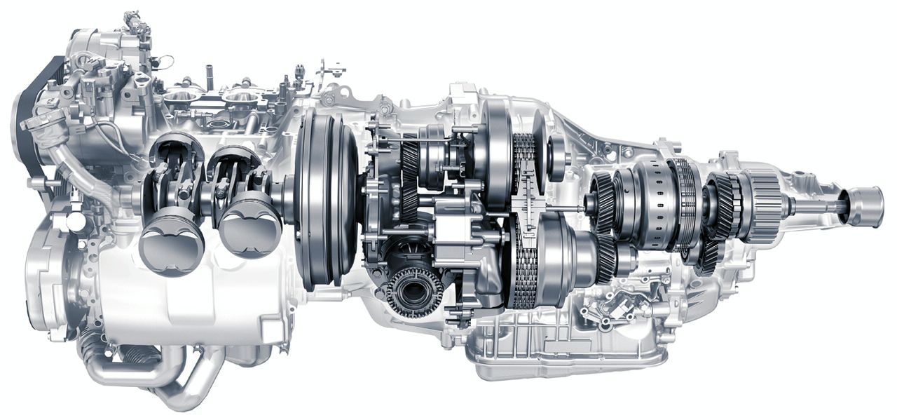 силовая установка двигатель с вариатором