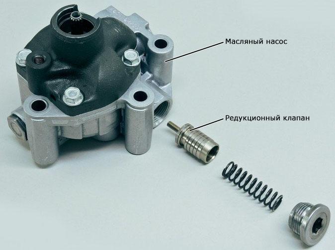 редукционный клапан масляного насоса вариатора