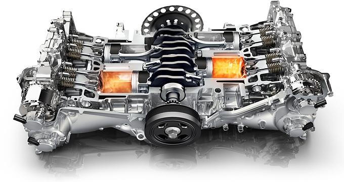 опозитный двигатель в разрезе