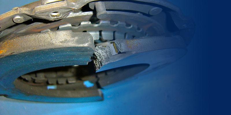 неисправный диск сцепления