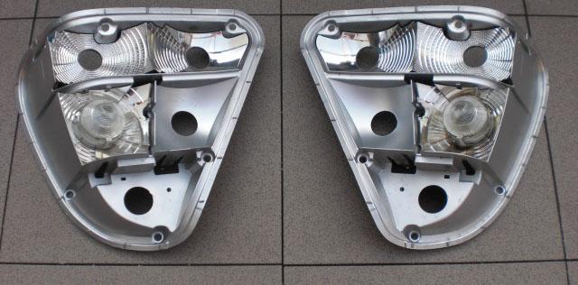 Отражатели задних фонарей автомобиля