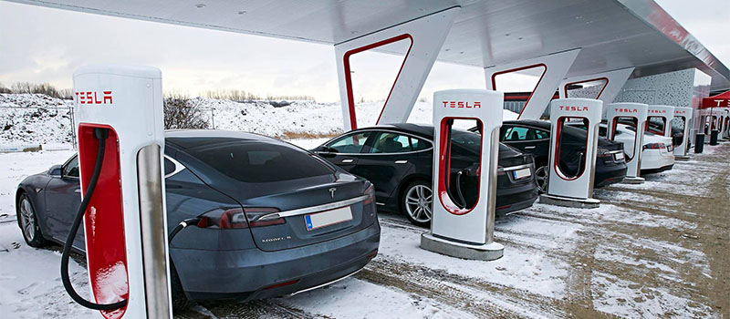 Станция Tesla Supercharger
