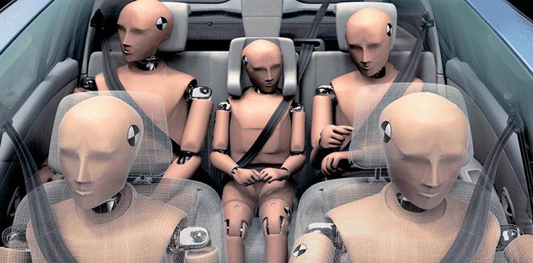 манекены в машине