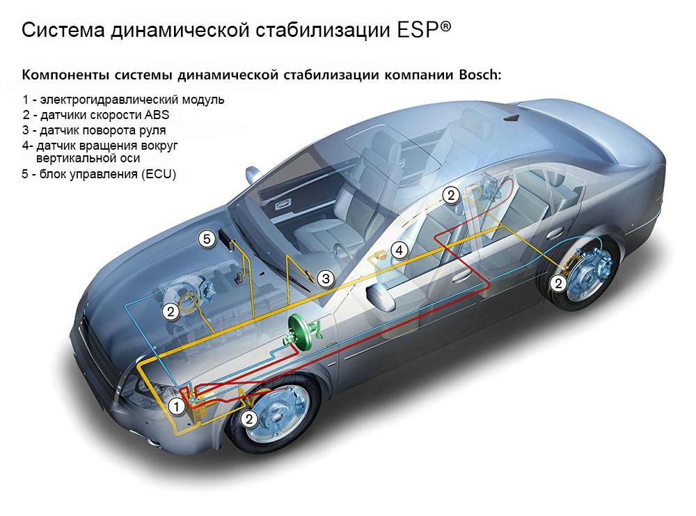 элементы системы ESP