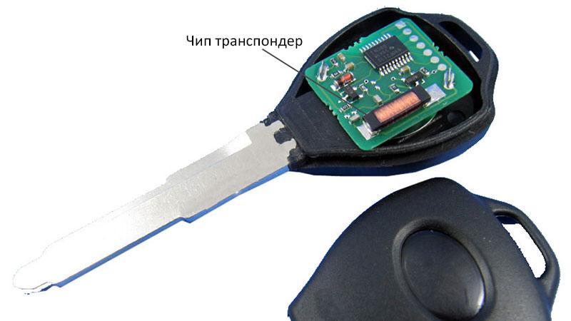 чип транспондер в ключе зажигания